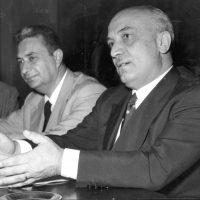"""Aldo Moro e Amintore Fanfani, spesso definiti """"i cavalli di razza"""" della DC"""