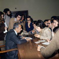Oltre che nell'attività politica, Aldo Moro s'impegnò anche nell'insegnamento accademico. Fu docente di diritto penale all'università di Bari prima, e alla Sapienza di Roma poi