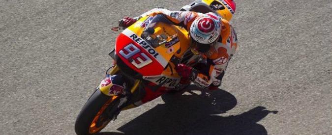 Moto Gp Aragon, Marquez trionfa ed è quasi campione. Spettacolo Rossi-Lorenzo, la spunta lo spagnolo: 2°