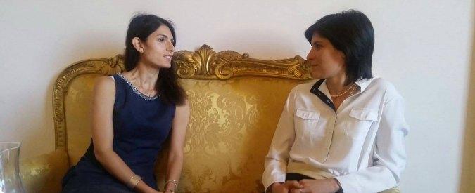 """Chiara Appendino incontra Virginia Raggi a Roma: """"Non credo abbia bisogno dei miei consigli"""""""