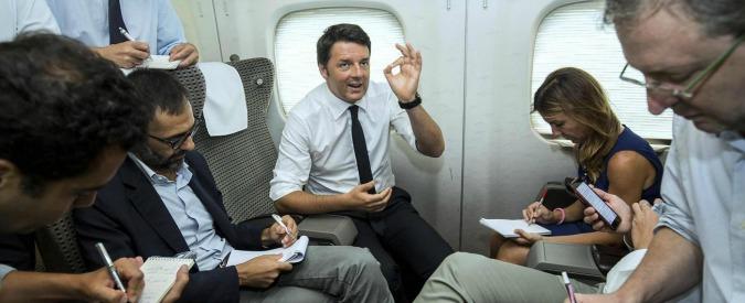 Buffetti a Renzi e manganellate ai 5stelle: è questa la stampa?