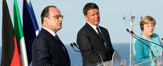 """Bratislava, Renzi diserta conferenza stampa con Merkel e Hollande: """"Non sono soddisfatto, non recito a copione"""""""