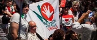 Referendum, confronto Renzi-Smuraglia: la platea fischia al premier per il Jobs Act. E tra il pubblico si sfiora la rissa
