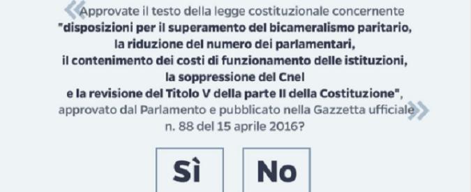 Referendum costituzionale, più della scheda elettorale faziosa mi preoccupa la rassegnazione