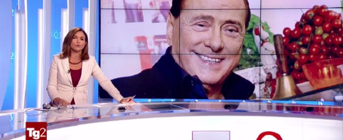 Silvio Berlusconi, padre della patria. Il tributo del Tg2 all'ex Cavaliere