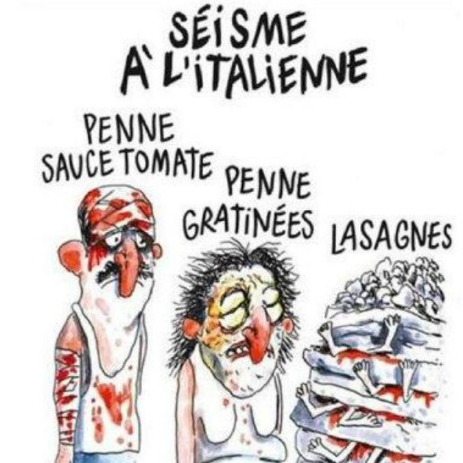 Charlie Hebdo, la vignetta sul terremoto è brutta. Ma lecita. La satira è satira sempre