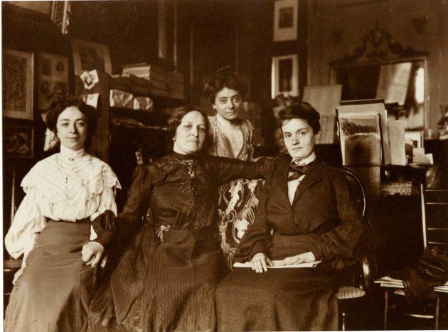Pellegrina Pirani, Ersilia Majno Bronzini, Elisa Boschetti, Anna Celli, fotografia, Archivio Famiglia Majno