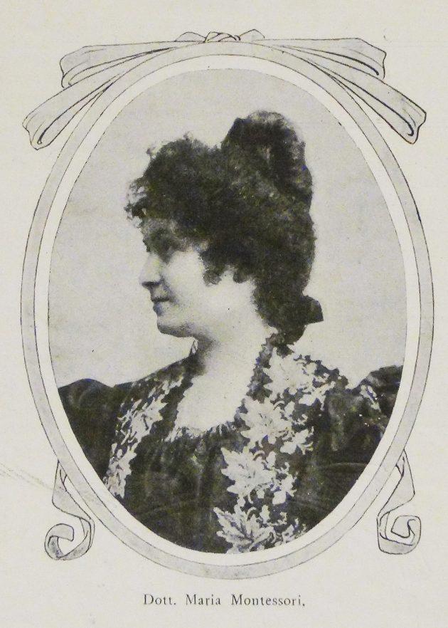 Ritratto di Maria Montessori, in: «La donna», 1908, n. 81, Fondo Cittadine, Archivi dell'Unione femminile nazionale