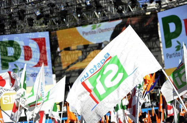 Piazza del Popolo. Manifestazione del Partito Democratico