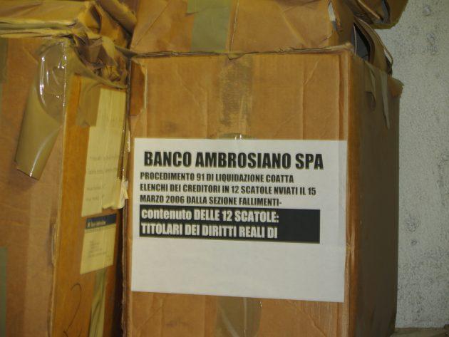 Il faldone del Banco Ambrosiano