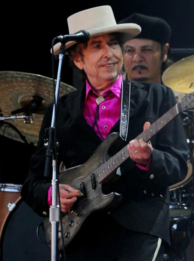 """File photo dated 3/7/2010 of American singer Bob Dylan who has been hailed as """"a great poet in the English-speaking tradition"""" following his surprise win of the Nobel Prize in Literature. PRESS ASSOCIATION Photo. Issue date: Thursday October 13, 2016. The 75-year-old was given the prestigious accolade for """"having created new poetic expressions within the great American song tradition"""". See PA story SHOWBIZ Dylan. Photo credit should read: Gareth Fuller/PA Wire"""