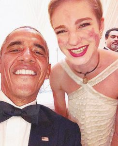 Il Selfie - Obama-Bebe Vio - Ansa