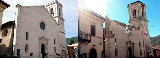 La chiesa di Santa Maria Argentea prima e dopo la scossa