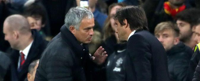 """Lite Mourinho-Conte. """"Cambio lavoro se non posso esultare"""". Lo Special One: """"Problema? Rimane tra noi due"""" – VIDEO"""