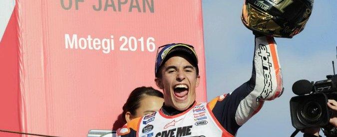 MotoGp Motegi, Marquez vince: è campione del mondo con tre gare di anticipo. Cadono Rossi e Lorenzo