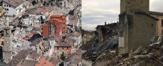 Amatrice, crolla il palazzo rosso del Comune. Tendopoli tornata domenica ritrasferita a Foligno