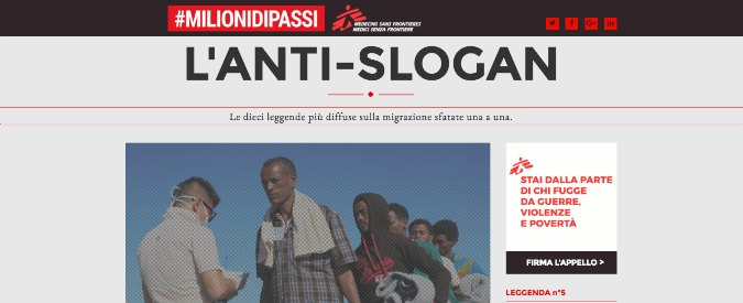 """""""Gli stranieri sono trattati meglio degli italiani"""". Le 10 leggende sui migranti sfatate da Medici senza frontiere"""