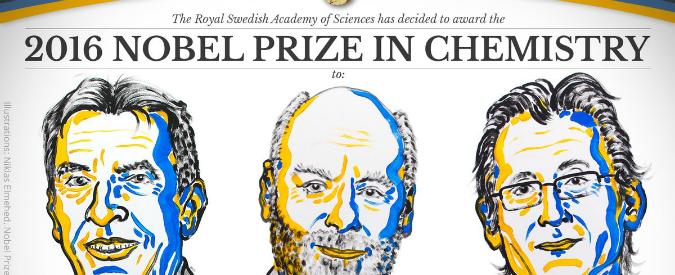 Premio Nobel per la Chimica 2016 a Sauvage, Stoddart and Feringa per studi sulle macchine molecolari