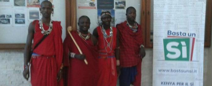 """Referendum, anche i Masai a sostegno della riforma. Il comitato """"Kenya per il Sì"""" ha trovato i suoi """"guardiani"""""""
