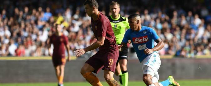 Napoli Roma 1-3, Dzeko sotterra la squadra di Sarri e porta i ragazzi di Spalletti alle spalle della Juventus