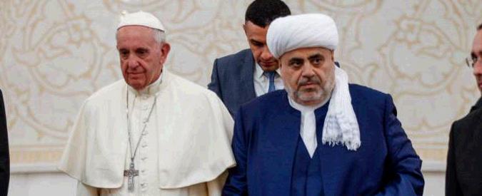 "Papa Francesco, messaggio da moschea di Baku: ""Mai più violenza in nome di Dio"""