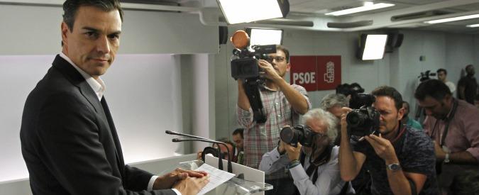 Spagna, il segretario socialista Pedro Sanchez si dimette: Psoe a guida provvisoria. Buona notizia per Rajoy
