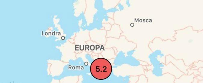 Terremoto in Grecia, scossa di magnitudo 5.2 nella notte. Avvertita anche in Puglia: nessun danno