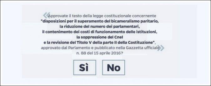 """Referendum, sul quesito parte il ricorso al Tar del Lazio: """"E' una truffa"""". Benigni: """"Se vince il No peggio della Brexit"""""""