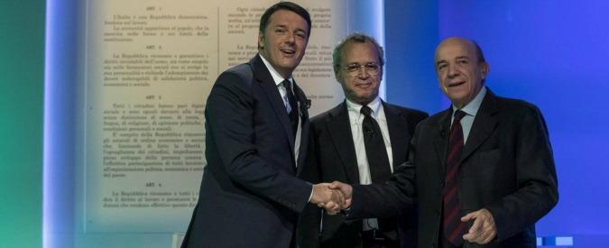 Referendum costituzionale, il confronto tra Renzi e Zagrebelsky su LA7 fa l'8% di share