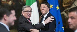 """Legge di Bilancio, """"pronta lettera Ue su deficit e coperture una tantum"""". Renzi: """"Pensino a chi non accoglie i migranti"""""""