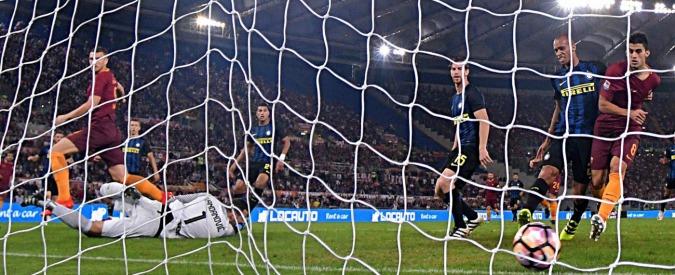 Seria A, Roma-Inter 2-1: spettacolo all'Olimpico. Ma non chiamatelo bel calcio