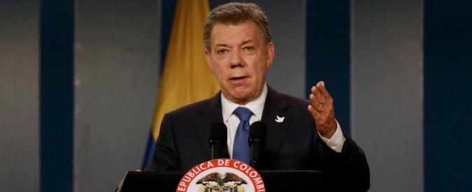 Premio Nobel per la Pace 2016 assegnato al presidente della Colombia Juan Manuel Santos
