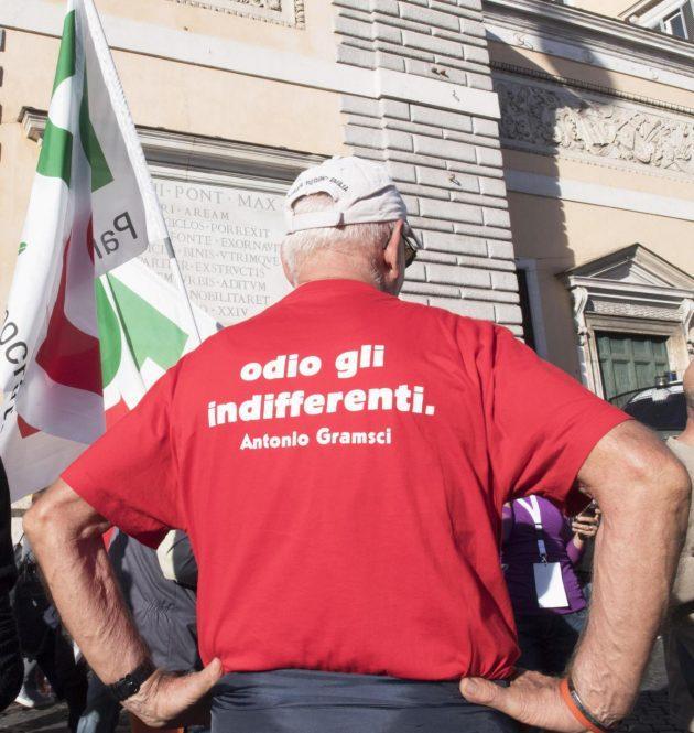 Roma, manifestazione del PD in Piazza del Popolo