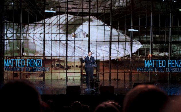 Matteo Renzi all'inaugurazione del Roma Convention Center - La Nuvola di Fuksas