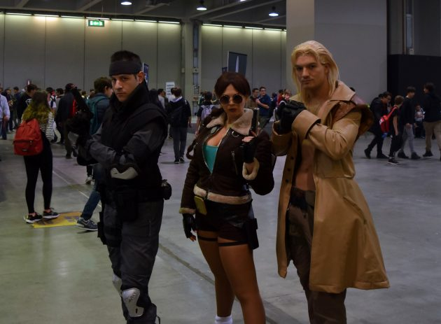 Solid Sake, Lara Croft & Liquid Snake