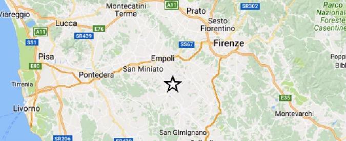 Terremoto Firenze, due scosse nel giro di due minuti. Nessun danno né feriti