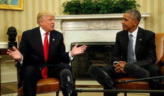 Obama riceve Donald  Trump alla Casa Bianca