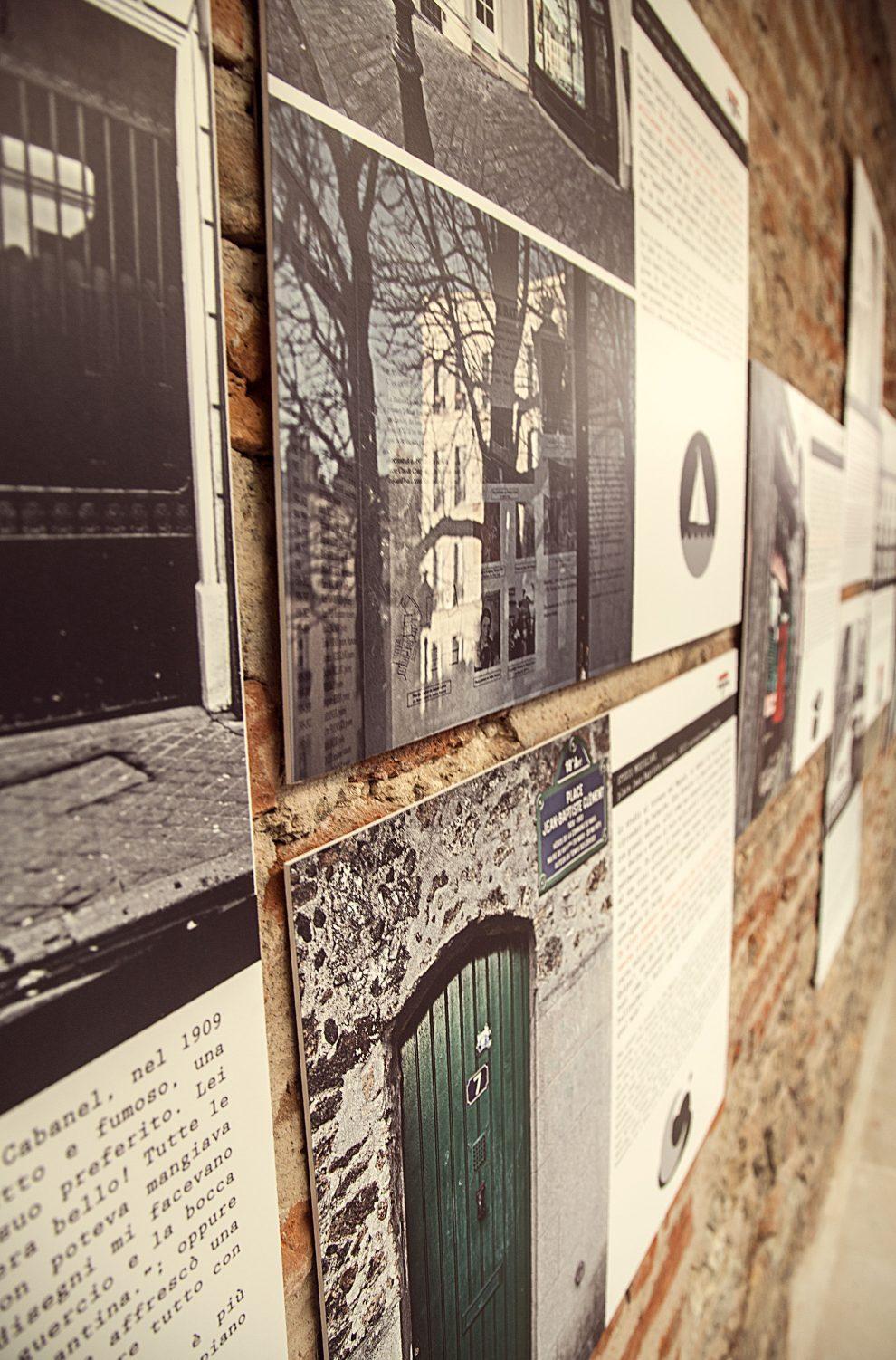 Allestimento della mostra a Palazzo Blu, Pisa (tutte le foto sono di Luca Dal Canto)