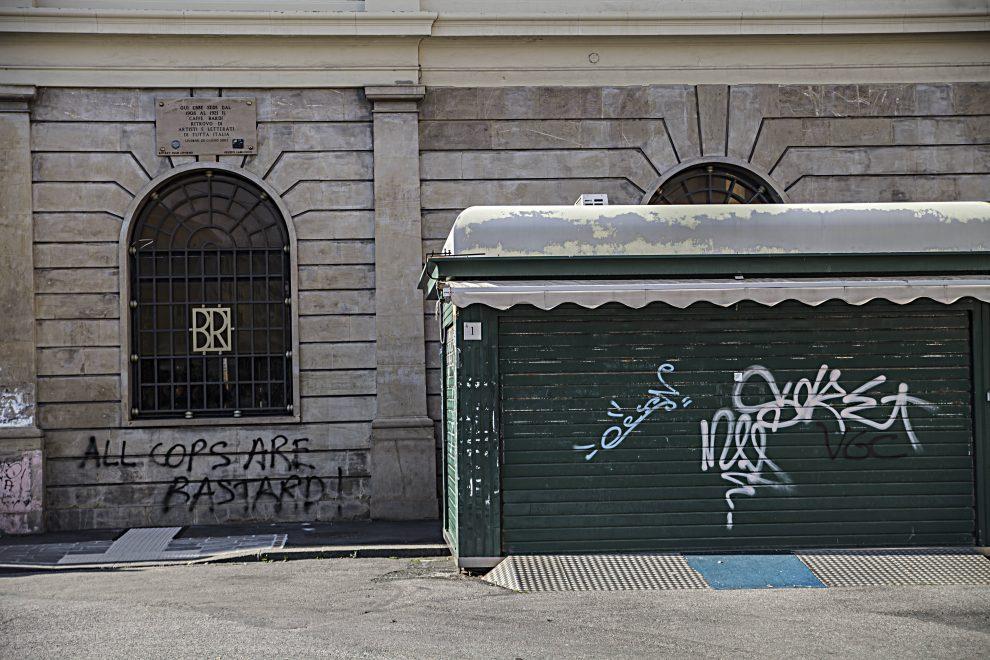 """Il Caffè Bardi di Livorno, dove Modigliani era solito incontrarsi con gli amici artisti (foto dalla mostra """"I luoghi di Modigliani tra Livorno e Parigi"""")"""