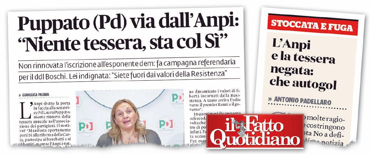 Caro Padellaro, l'Anpi rimane pluralista