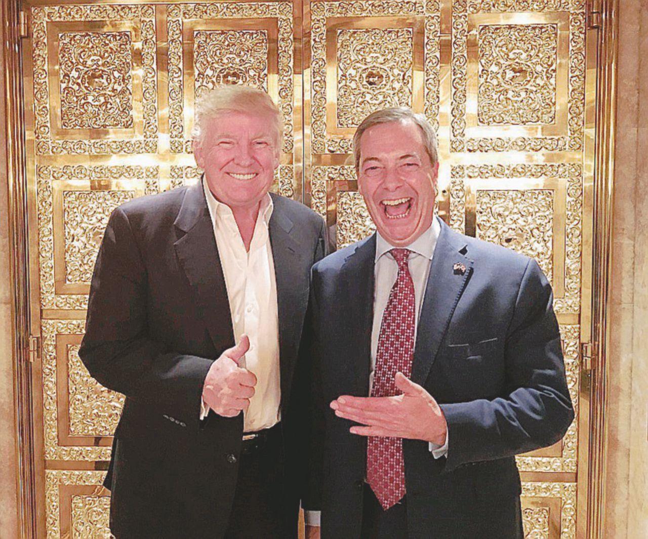 Trump abbraccia Mr. Brexit e promette il muro con il Messico