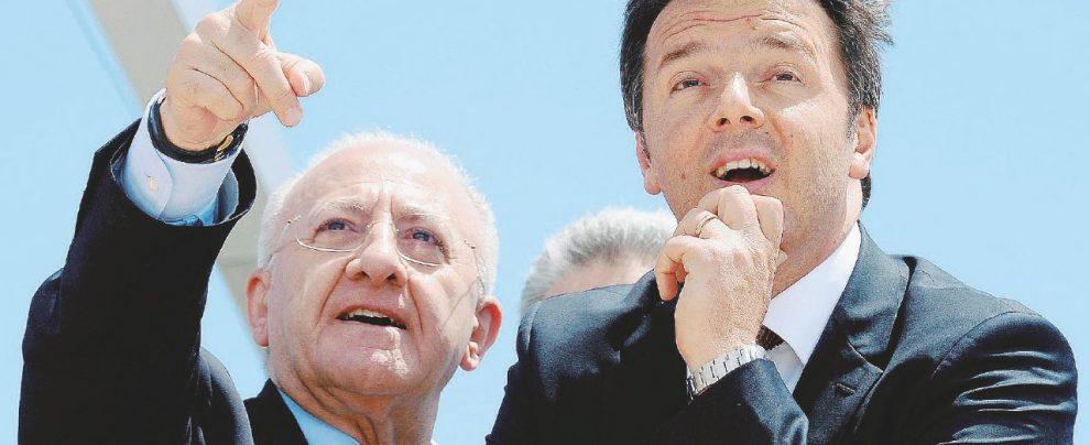 Sanità, Renzi premia De Luca. Sarà promosso commissario