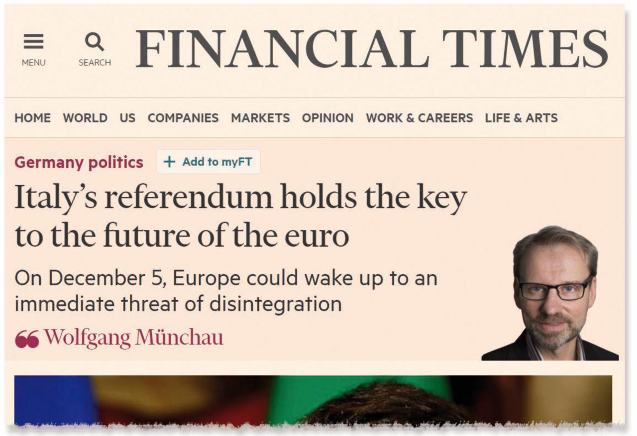 Cos'ha scritto davvero il Financial Times e cosa i media italiani