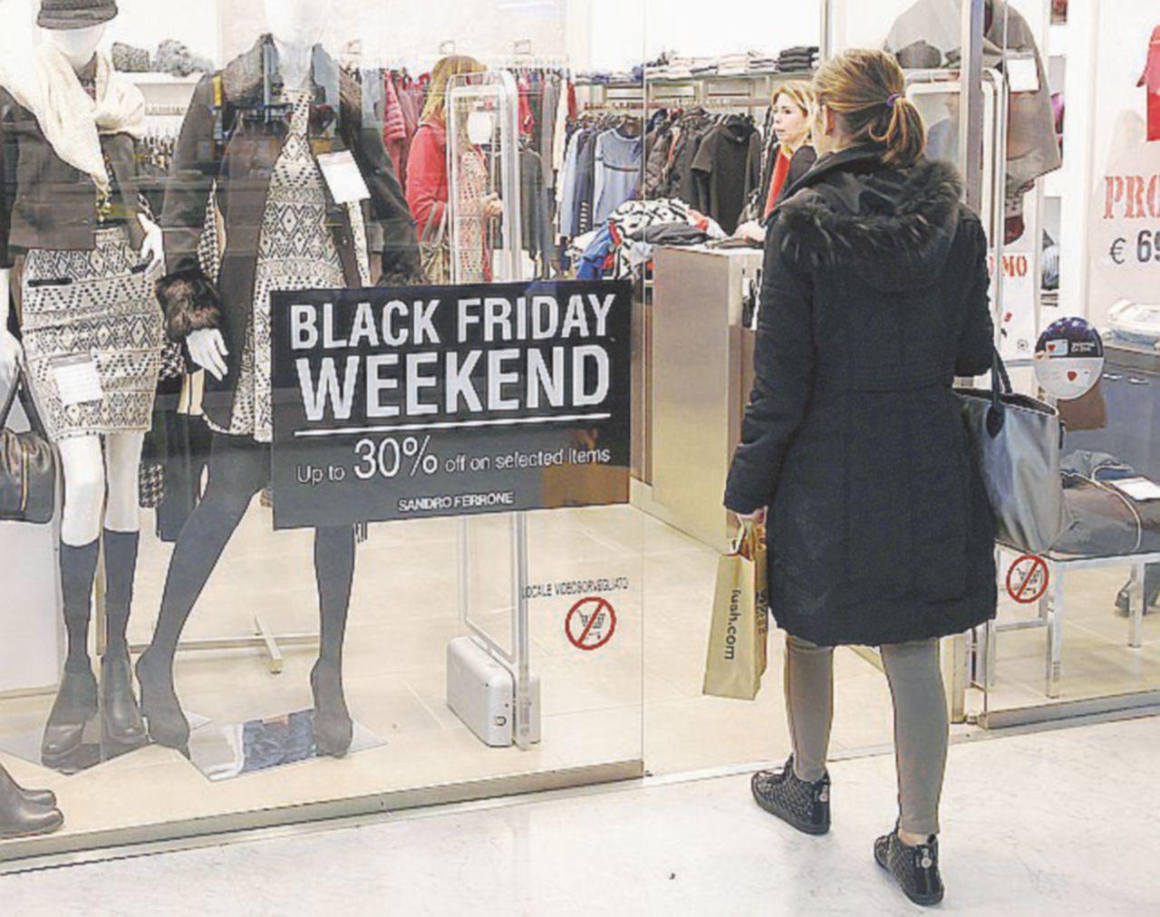 Il black friday non risveglia i consumi