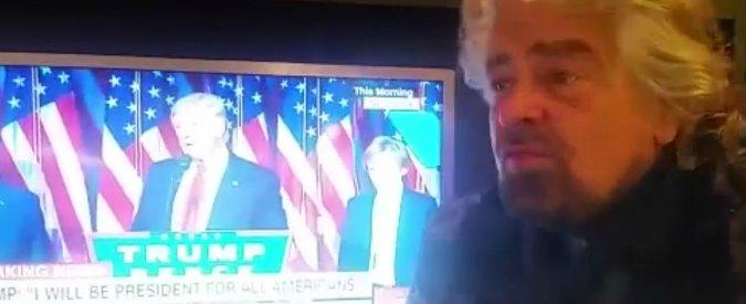 """Trump presidente, Grillo: """"Vaffanculo generale e apocalisse dell'informazione. Succederà così anche con M5s"""""""