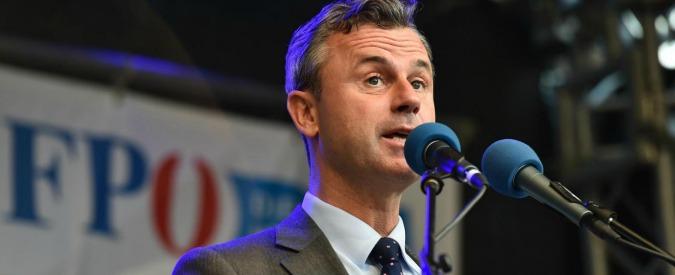 """Elezioni Austria, il candidato dell'estrema destra Hofer: """"Se Ue troppo centralizzata, dovremo tenere referendum per uscire"""""""