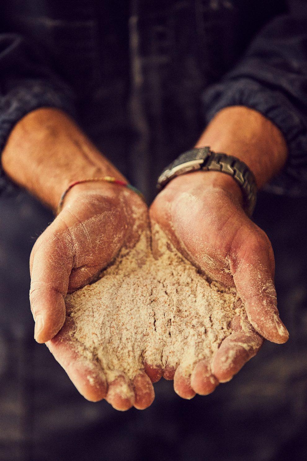Bisogna stare molto attenti durante la macinatura. Ciò che accade quando appunto si setaccia la farina è che si rompa uno dei vagli, e che nella farina si formino le puntinature, per cui il controllo deve essere frequente!