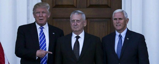 Donald Trump, con James Mattis al Pentagono il Medio Oriente sarà abbandonato a se stesso