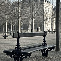 """Le jardin du Luxembourg, Parigi. Qui Modigliani si incontrava con la poetessa russa Anna Achmatova, di cui si innamorò perdutamente (foto dalla mostra """"I luoghi di Modigliani tra Livorno e Parigi"""")"""