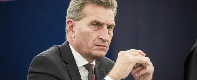 """Ue, Oettinger si scusa per dichiarazioni """"irrispettose"""". Aveva offeso la Vallonia, gay, associazioni femminili e cinesi"""